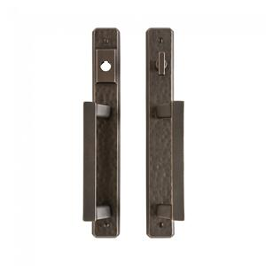 "Hammered Entry Sliding Door Set - 1 3/4"" x 13"" Silicon Bronze Brushed Product Image"