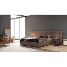 Estro Salotti Gradisca Modern Brown Leather Bed