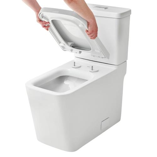 Eurocube Eurocube Right Height Elongated Toilet Bowl With Seat
