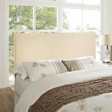 View Product - Region King Upholstered Fabric Headboard in Ivory