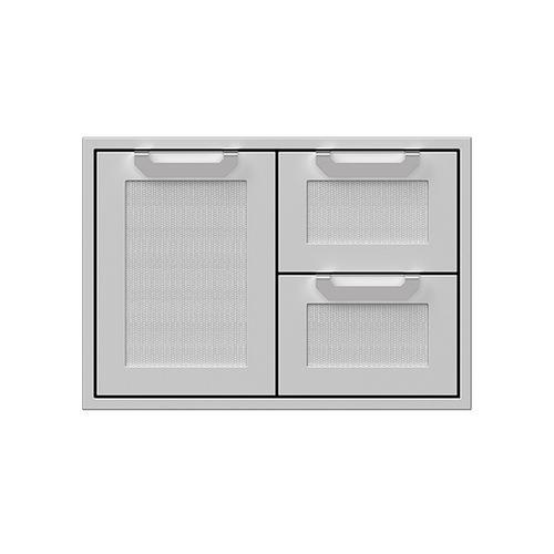 """Hestan - 30"""" Hestan Outdoor Combo Door/Drawer - AGSDR Series - Steeletto"""