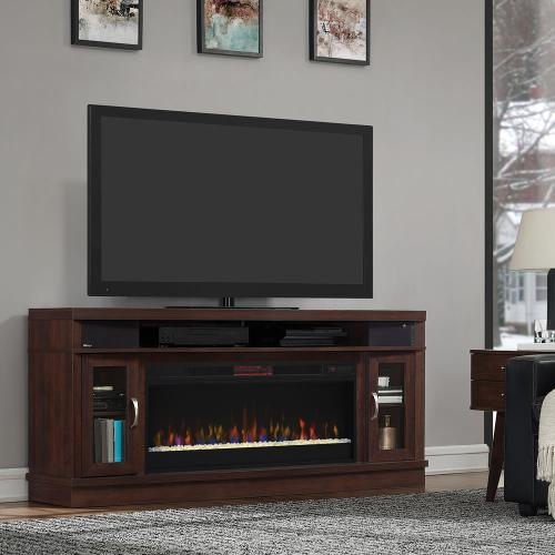 Deerfield TV Stand with Electric Fireplace and sound