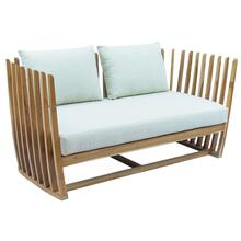 Throne Teak Sofa w/off-white cushions