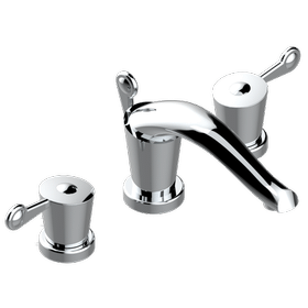 """Widespread lavatory set with drain for 1 1/4"""" + countertop"""