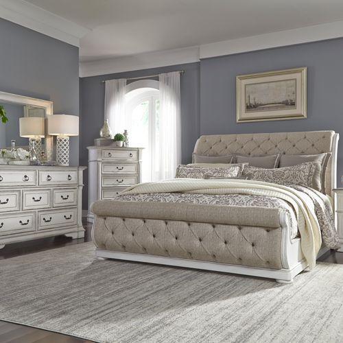 Gallery - Queen Uph Sleigh Bed, Dresser & Mirror, Chest
