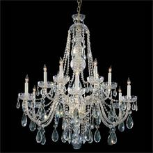 See Details - Traditional Crystal 12 Light Polished Brass Hand Cut Crystal Chandelier