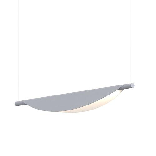 Sonneman - A Way of Light - Tela LED Pendant [Size=Single Pendant, Color/Finish=Dove Gray]