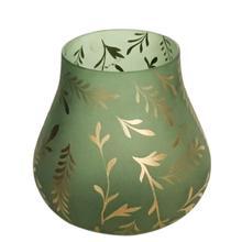 Lila Medium Sage Satin Glass Vase