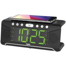 "Dual Alarm Clock with Qi® Wireless Charging (1.8"" Jumbo Display)"