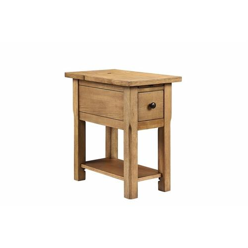 Stonebridge 1-drawer Chairside Table In Aged Finish