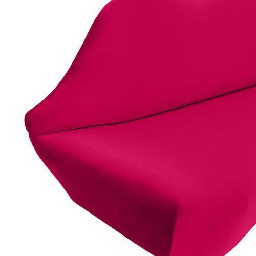 Lips Pink Velvet Settee