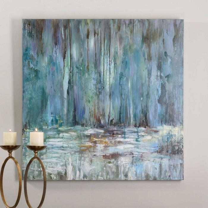 Uttermost - Blue Waterfall Hand Painted Canvas