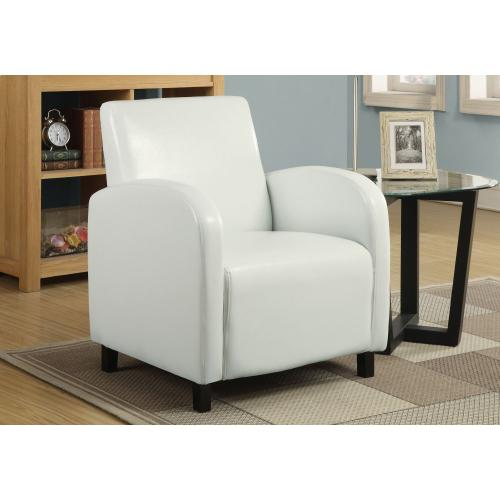Gallery - ACCENT CHAIR - WHITE LEATHER-LOOK FABRIC
