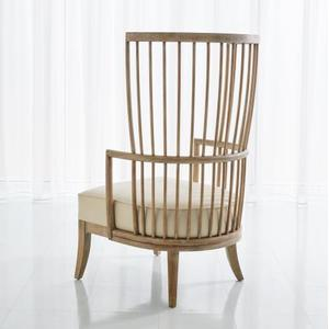 Spindle Wing Chair-Muslin