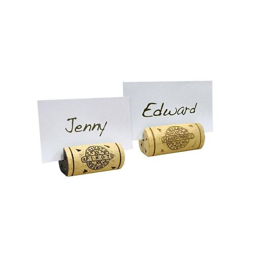 Epicureanist Ceramic Cork Place Card Holders