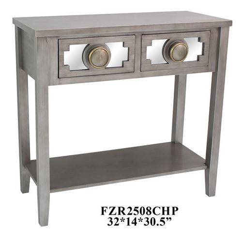 """Product Image - 32X14X30.5"""" TWO DRAWER WOOD TABLE 1PC PK, 4.25'"""