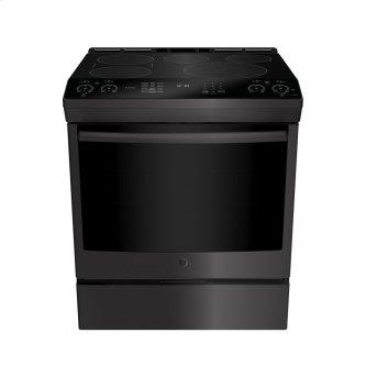 """GE Profile 30"""" Electric Slide-In Induction Range with Storage Drawer Black Stainless Steel - PCHS920BMTS"""