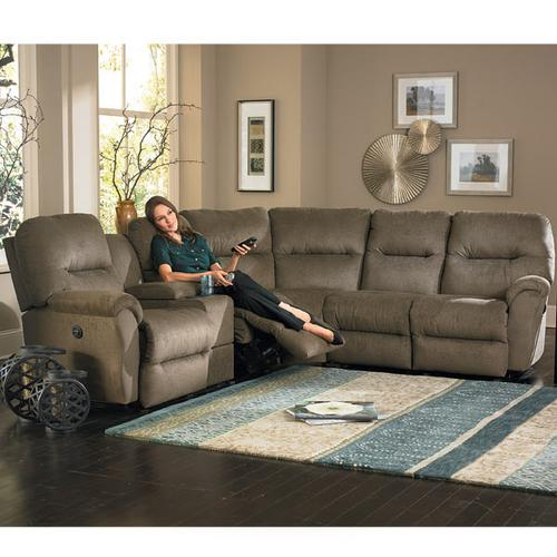 BODIE SECT. Leather Reclining Sectional #222310