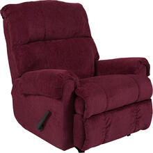 Contemporary Kelly Burgundy Super Soft Textured Microfiber Rocker Recliner