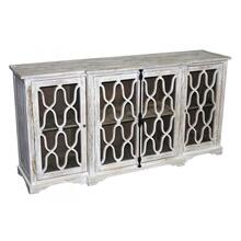 Carved 4-Door White Wash Buffet