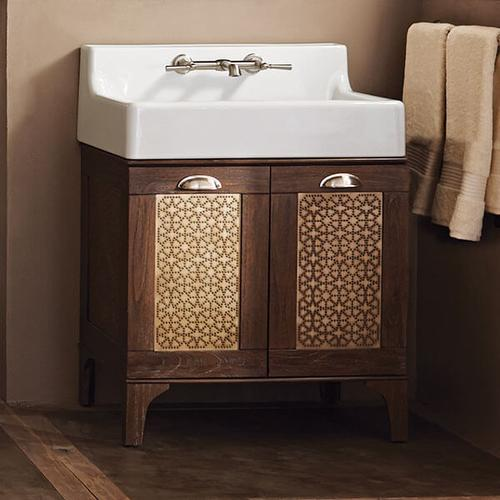 Dxv - Oak Hill Bathroom Vanity with Sink - Canvas White / Weathered Oak