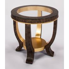 """View Product - End Table with Glass Dia.26x27"""""""