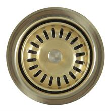 View Product - 3.5 Inch Extended Flange Disposal Kitchen Drain in Brass