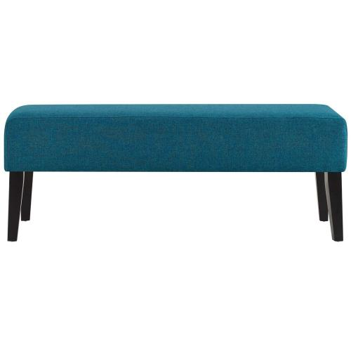 Modway - Connect Upholstered Fabric Bench in Teal