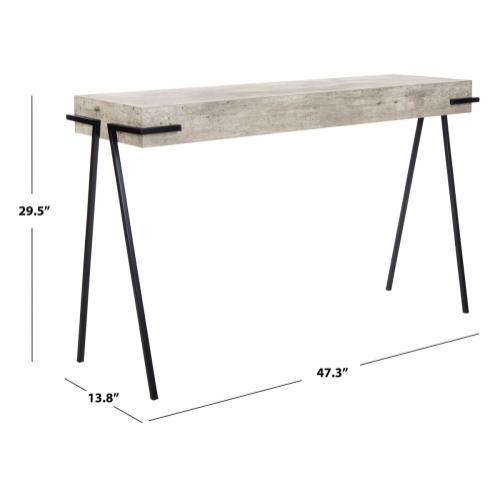 Safavieh - Jett Rectangle Console Table - Light Grey / Black