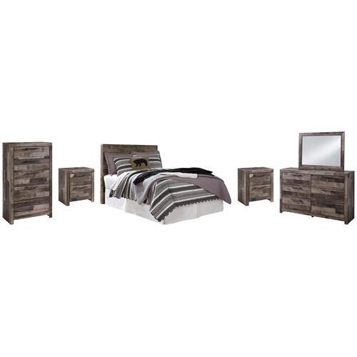 Ashley - Full Panel Headboard With Mirrored Dresser, Chest and 2 Nightstands