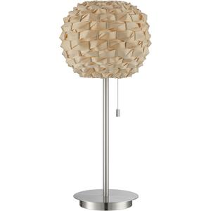 Table Lamp, Ps/bamboo Shade, E27 Type Cfl 23w