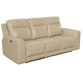 Doncella Leather Dual-Power Reclining Sofa