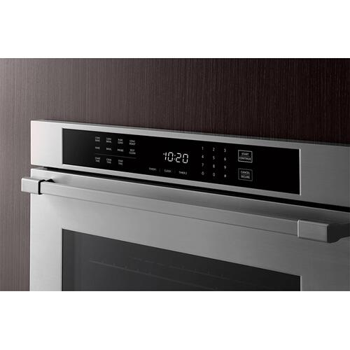 "27"" Single Wall Oven, Silver Stainless Steel with Pro Style Handle"