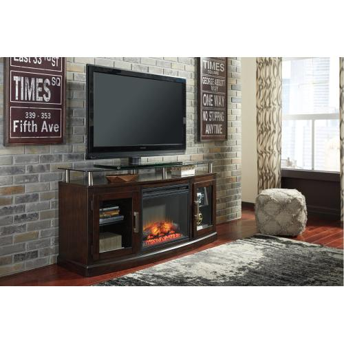 """Signature Design By Ashley - Chanceen 60"""" TV Stand With Electric Fireplace"""
