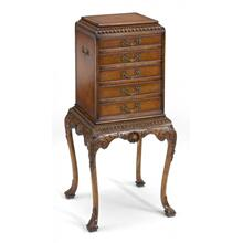 George II style flatware cabinet
