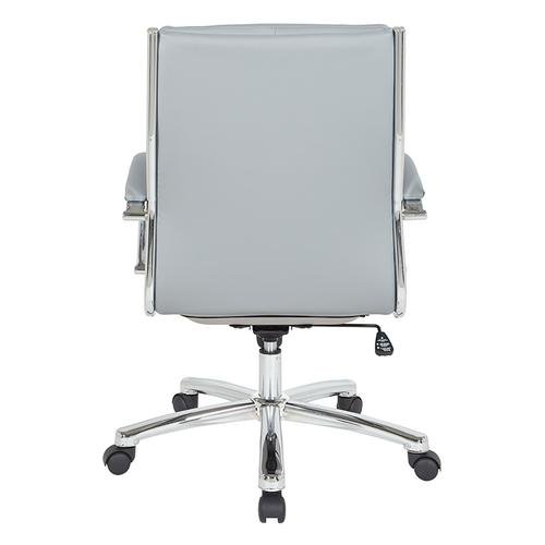Mid Back Executive Charcoal Grey Faux Leather Chair