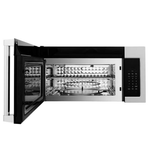 ZLINE Over the Range Convection Microwave Oven in Stainless Steel & Black Stainless Steel with Traditional Handle [Color: Stainless Steel]