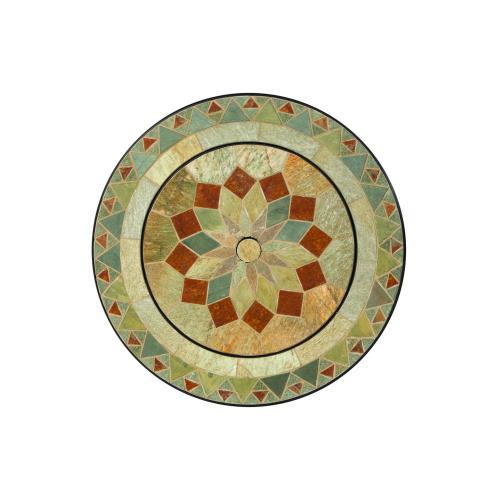 "Notre Dame 30"" Rnd Bev/Fire Pit Table-Cntr Disc"