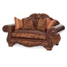 See Details - Leather/fabric Loveseat