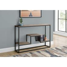"""ACCENT TABLE - 48""""L / TAUPE / BLACK METAL HALL CONSOLE"""