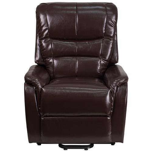 Gallery - HERCULES Series Brown LeatherSoft Remote Powered Lift Recliner