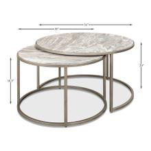 Set Of 2 Round Nesting Tables Marble Top