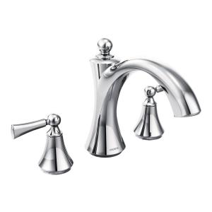 Wynford chrome two-handle roman tub faucet Product Image