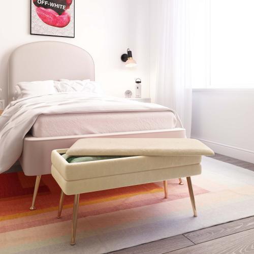Product Image - Ziva Cream Storage Bench