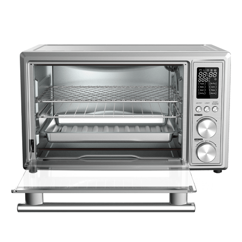 Galanz - Galanz 0.9 Cu Ft Digital Toaster Oven with Air Fry in Stainless Steel