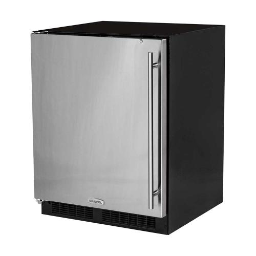 24-In Low Profile Built-In All Refrigerator With Maxstore Bin with Door Style - Stainless Steel, Door Swing - Left