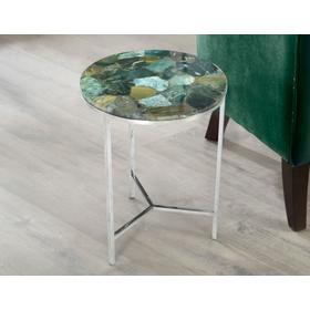Foster Green Jasper Top Chairside Table