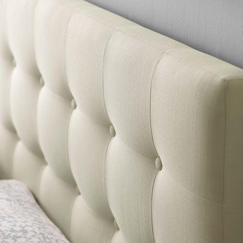 Modway - Emily Queen Upholstered Fabric Headboard in Ivory