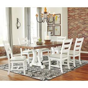 Valebeck Table & 6 Chairs Multi