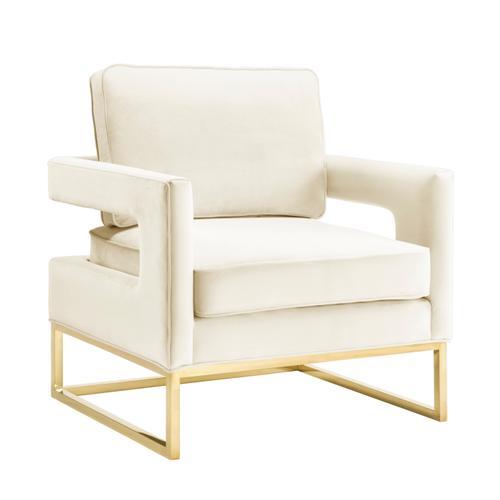 Tov Furniture - Avery Cream Velvet Chair
